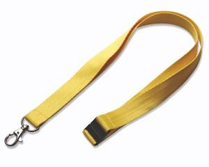 Schlüsselband 20 mm gelb mit SV