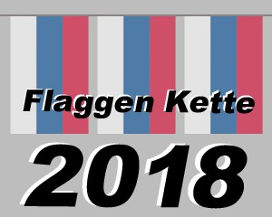 Flaggen Kette Fußball WM 2018 klein