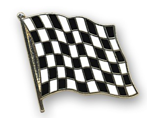 Flaggen-Pins Zielflagge