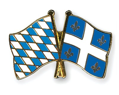 Freundschaftspins Bayern-Québec