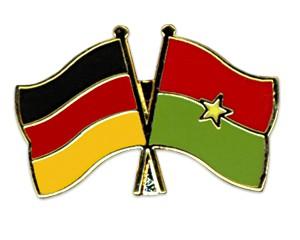 Freundschaftspins Deutschland-Burkina-Faso