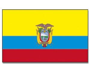 Stock-Flagge Ecuador