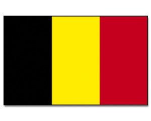 Stock-Flagge Belgien