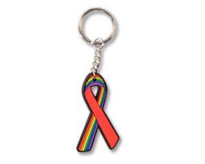 Schlüsselanhänger Red Ribbon/Rainbow Ribbon
