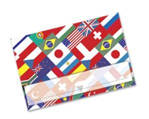 Einlegekarten Flaggen Welt