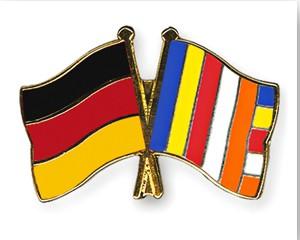 Freundschaftspins Deutschland-Buddhismus Flagge