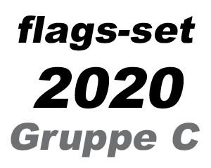 Flaggen-Set Fußball EM 2020 Gruppe C: 4 Flaggen 90 x 150 cm