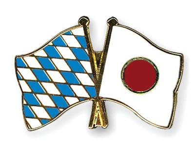 Freundschaftspins Bayern-Japan
