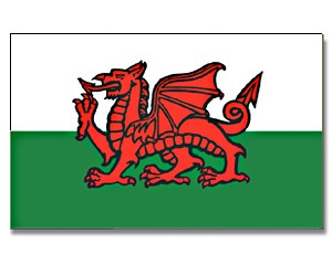 Stock-Flagge Wales