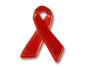 Red Ribbon Pins Kunststoff 29 mm