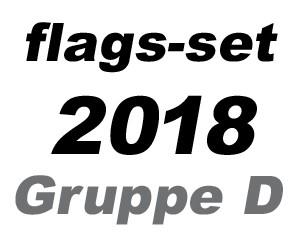 Flaggen Set Fußball WM 2018 Gruppe D