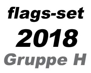 Flaggen Set Fußball WM 2018 Gruppe H