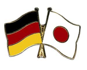 Freundschaftspins Deutschland-Japan