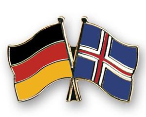 Freundschaftspins Deutschland-Island