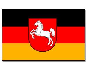 Stock-Flagge Niedersachsen