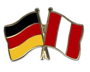 Freundschaftspins Deutschland-Peru