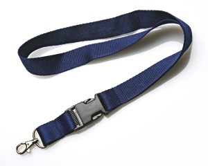 Schlüsselband 25 mm dunkelblau mit KSV