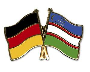 Freundschaftspins Deutschland-Usbekistan