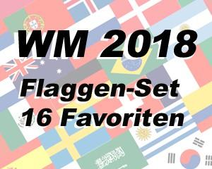 Flaggen Set 16 Fußball WM 2018