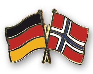 Freundschaftspins Deutschland-Norwegen