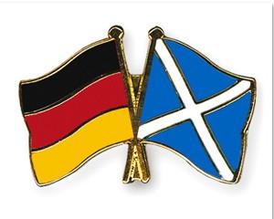 Freundschaftspins Deutschland-Schottland