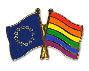 Freundschaftspins Europa-Regenogen