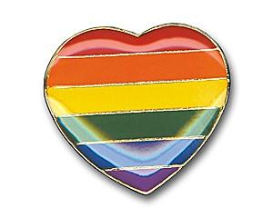 Pin: Rainbow Heart, 17 mm