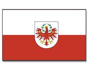 Stock-Flagge Tirol mit Wappen