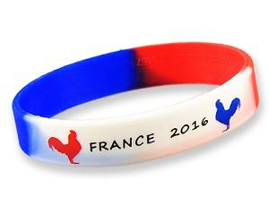 Silikonarmband France 2016 zwei Hähne