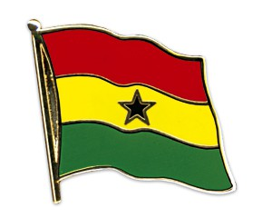 Flaggen-Pins Ghana