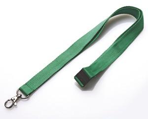 Schlüsselband 20 mm grün mit SV