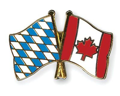 Freundschaftspins Bayern-Kanada
