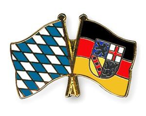 Freundschaftspins Bayern-Saarland