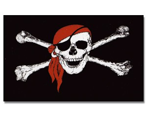 Flagge Pirat mit Kopftuch