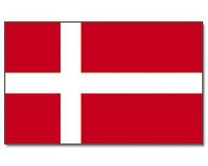 Stock-Flagge Dänemark