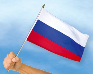 Stock-Flagge Russland