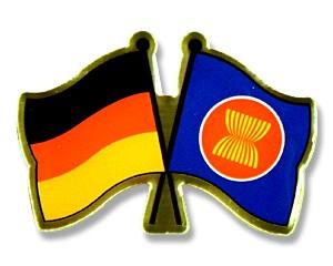 Freundschaftspins Deutschland-ASEAN (Verband Südostasiatischer Nationen)