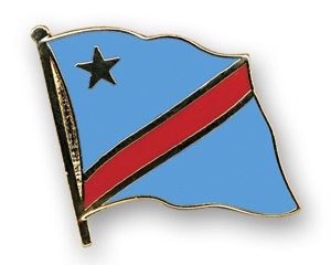 Flaggen-Pins Kongo, Demokratische Republik