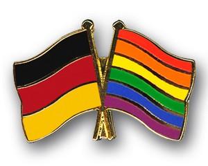 Freundschaftspins Deutschland-Regenbogen