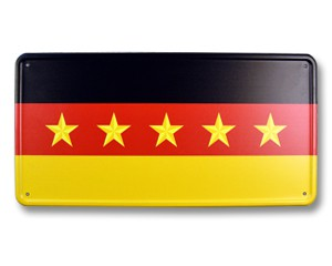 Blechschild Deutschland 5 Sterne