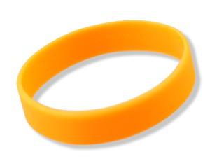 Silikonarmband Neon-Orange