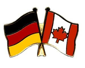 Freundschaftspins Deutschland-Kanada