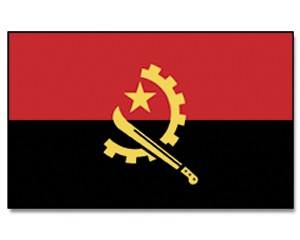 Stock-Flagge Angola