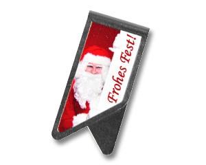 Büroklammer DeltaClips Nikolaus wünscht frohes Fest