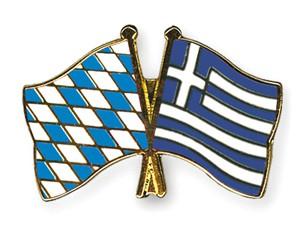 Freundschaftspins Bayern-Griechenland