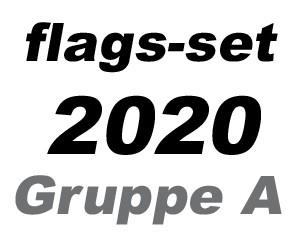 Flaggen-Set Fußball EM 2020 Gruppe A: 4 Flaggen 90 x 150 cm