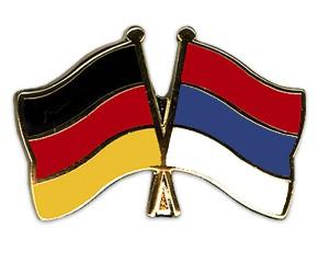 Freundschaftspins Deutschland-Serbien