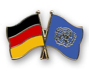 Freundschaftspins Deutschland-UNO (Vereinte Nationen)