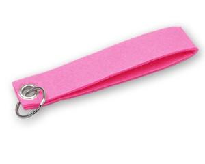 Filz Schlüsselanhänger pink