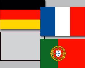 Flaggen Set Gruppe F Fußball EM 2020